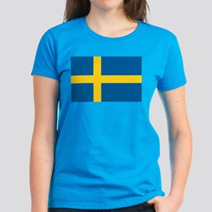 Sweden Flag Women's Dark T-Shirt