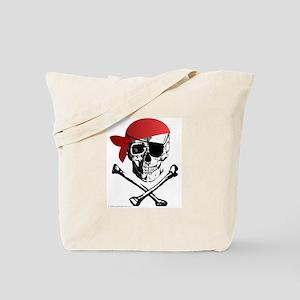 Pirate Skull w/bandana Tote Bag