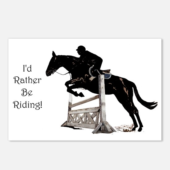 Cute Id Rather Be Riding  Postcards (Package of 8)