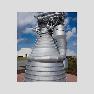 Saturn V rocket's F-1 engine Throw Blanket