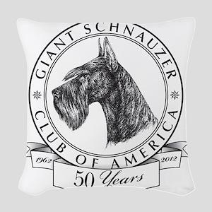 Giant Schnauzer Club of Americ Woven Throw Pillow