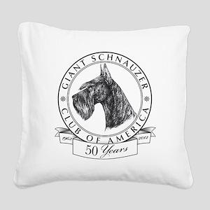 Giant Schnauzer Club of Ameri Square Canvas Pillow
