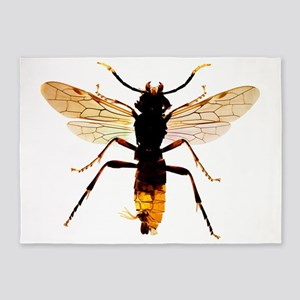 Sawfly, light micrograph 5'x7'Area Rug