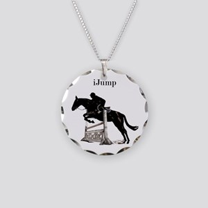 Fun iJump Equestrian Horse Necklace Circle Charm