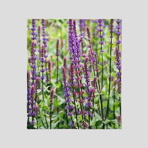 Salvia nemorosa 'Caradonna' Throw Blanket