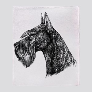 Giant Schnauzer Head Profile Throw Blanket