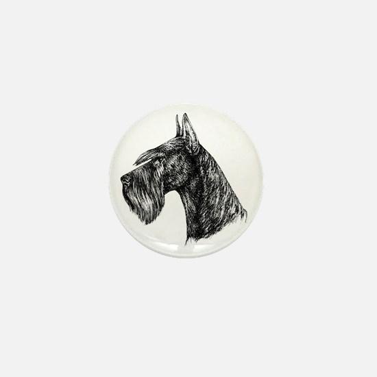 Giant Schnauzer Head Profile Mini Button