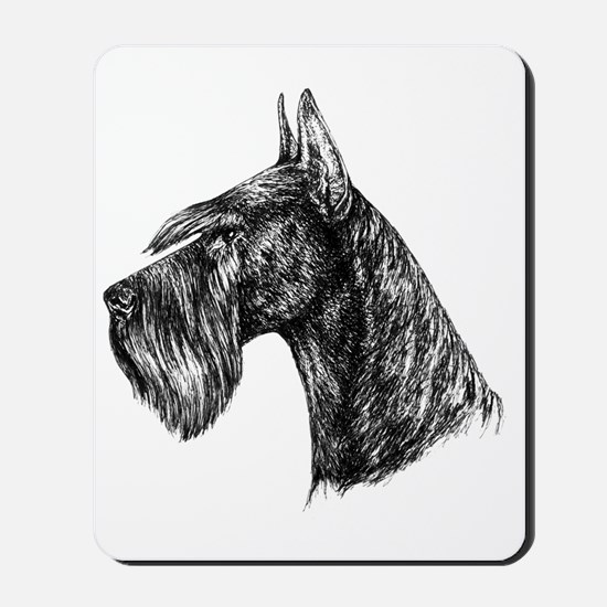 Giant Schnauzer Head Profile Mousepad