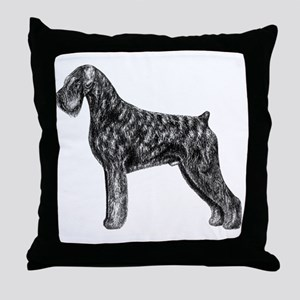 Giant Schnauzer Uncropped Standing Pr Throw Pillow