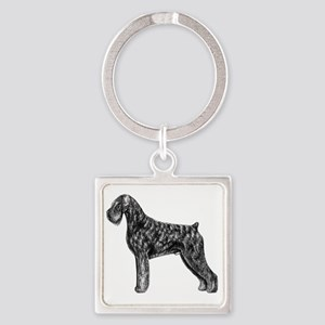 Giant Schnauzer Uncropped Standing Square Keychain