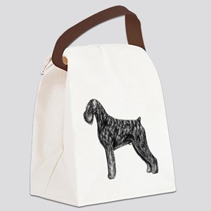 Giant Schnauzer Uncropped Standin Canvas Lunch Bag
