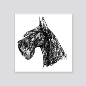 "Giant Schnauzer Head Profil Square Sticker 3"" x 3"""