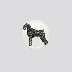 Giant Schnauzer Uncropped Standing Pro Mini Button