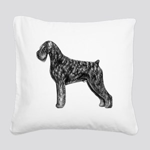 Giant Schnauzer Uncropped Sta Square Canvas Pillow