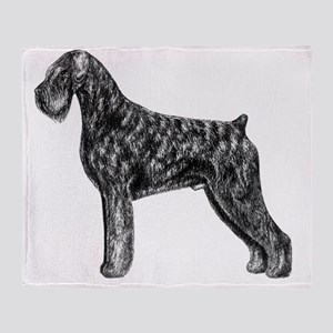 Giant Schnauzer Uncropped Standing P Throw Blanket