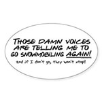 Listen to the Voices Oval Sticker