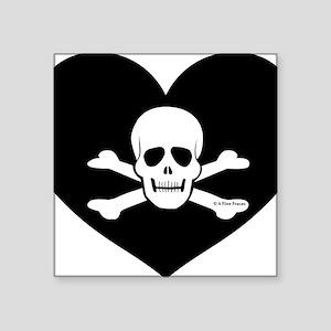 """Toxic Heart Square Sticker 3"""" x 3"""""""