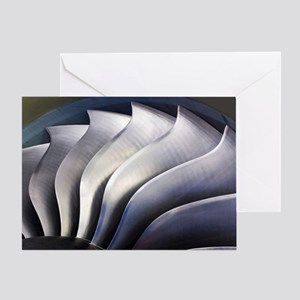 S-curve fan blades Greeting Card