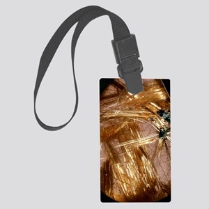 Rutile crystals Large Luggage Tag