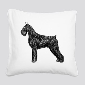 Giant Schnauzer Standing Prof Square Canvas Pillow