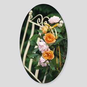 Roses Sticker (Oval)