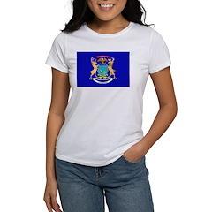 Michigan Flag Women's T-Shirt