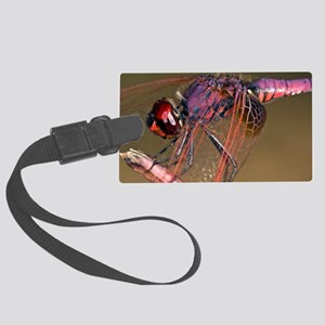 Ruddy darter dragonfly Large Luggage Tag