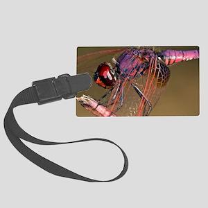 Ruddy darter dragonfly Large Luggage Tag