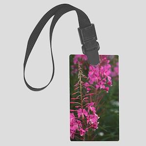 Rosebay willow-herb flowers Large Luggage Tag