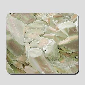 Rose quartz crystals, SEM Mousepad