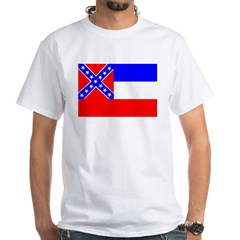 Mississippi Flag White T-Shirt