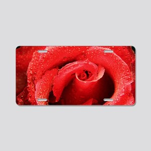 Rose (Rosa sp.) Aluminum License Plate