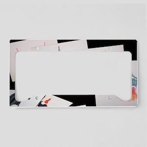 Rorshach Inkblot Test License Plate Holder
