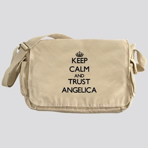 Keep Calm and trust Angelica Messenger Bag
