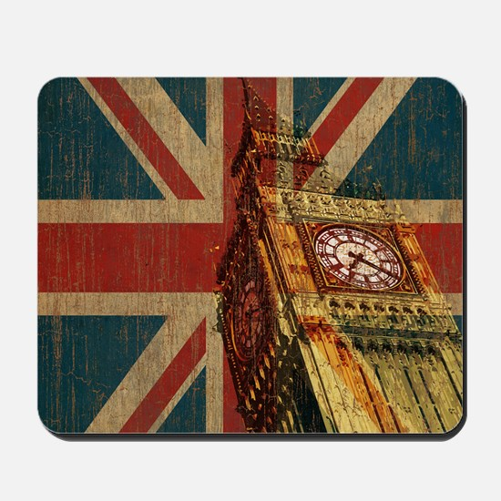 Vintage Union Jack Mousepad
