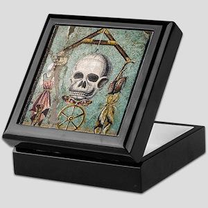 Roman memento mori mosaic Keepsake Box