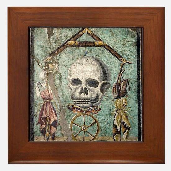 Roman memento mori mosaic Framed Tile