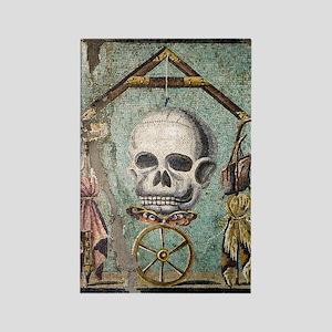 Roman memento mori mosaic Rectangle Magnet