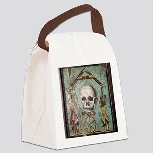 Roman memento mori mosaic Canvas Lunch Bag