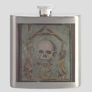 Roman memento mori mosaic Flask