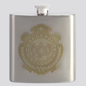 Chief of Police 3d Metallic Flask
