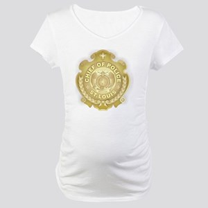 Chief of Police 3d Metallic Maternity T-Shirt