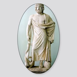 Roman statue of Asclepius Sticker (Oval)