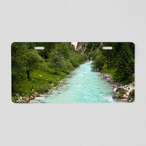 River Soca in Slovenia Aluminum License Plate