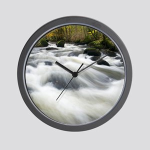 River Teign in autumn, Devon Wall Clock