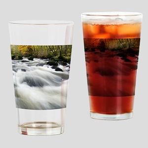 River Teign in autumn, Devon Drinking Glass