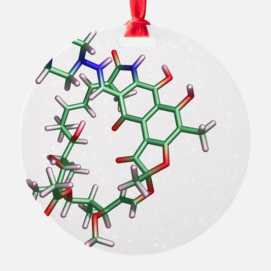 Rifampicin antibiotic molecule Ornament