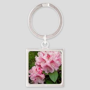 Rhododendron 'Albert Schweitzer' Square Keychain