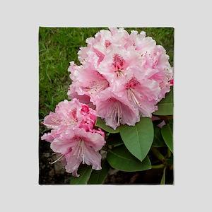 Rhododendron 'Albert Schweitzer' Throw Blanket