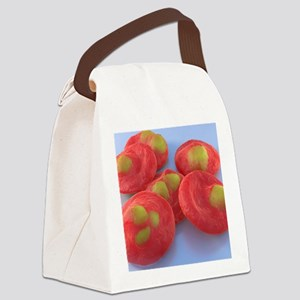 Red blood cells with malaria, art Canvas Lunch Bag